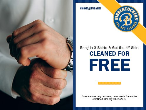 Bibbentuckers Shirt Coupon - Dry Cleaning Specials