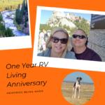One Year RV Living Anniversary
