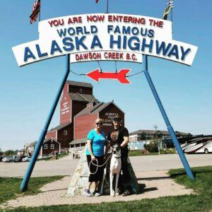 The beginning of the Alaska Highway