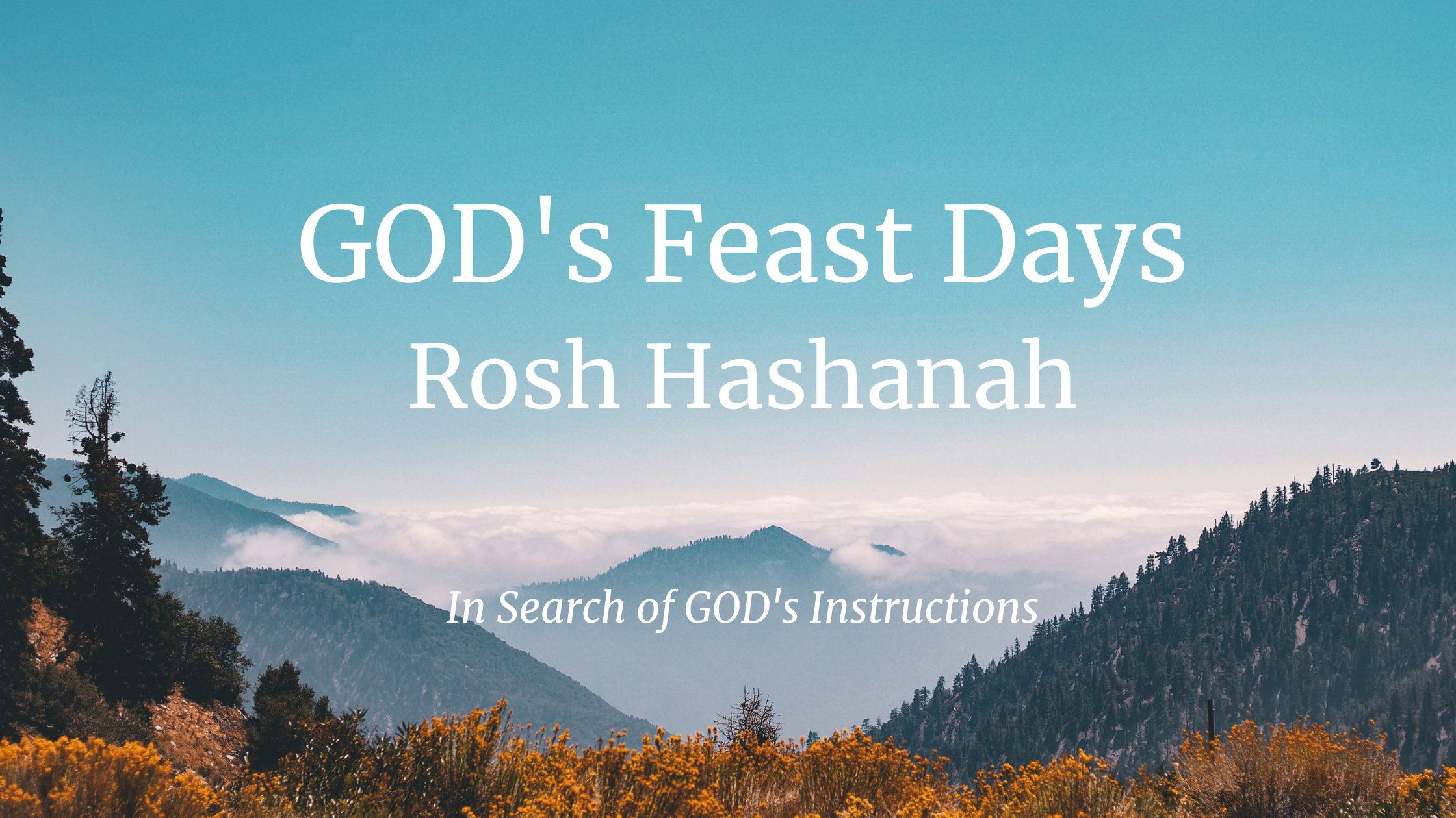 GOD's Feast Days – Rosh Hashanah