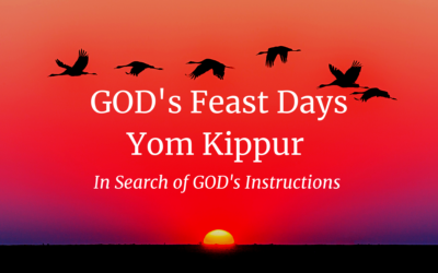GOD's Feast Days – Yom Kippur