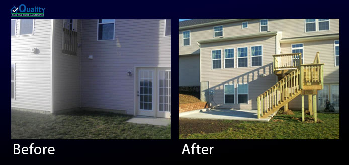 Before and After Deck Upgrade