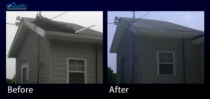 Before and After Roof Repair