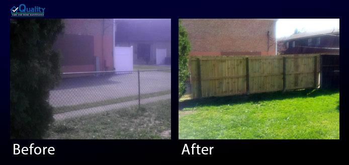 Before and After Fence Upgrade