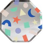 Platos Silver Geometric