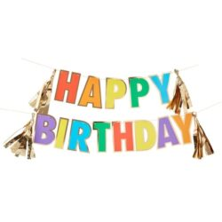 Guirnalda Rainbow Happy Birthday
