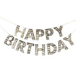 Guirnalda Happy Birthday Gold Fringe