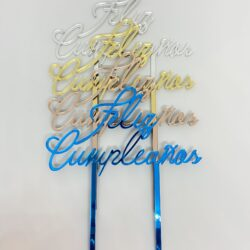 Topper Feliz Cumpleaños Espejo – Modelo 1 –