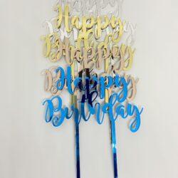 Topper Happy Birthday Espejo – Modelo 2 –