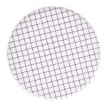 Platos Round Black and White Grid L