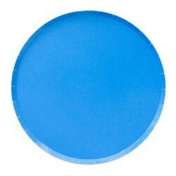 Platos Round Royal Blue L