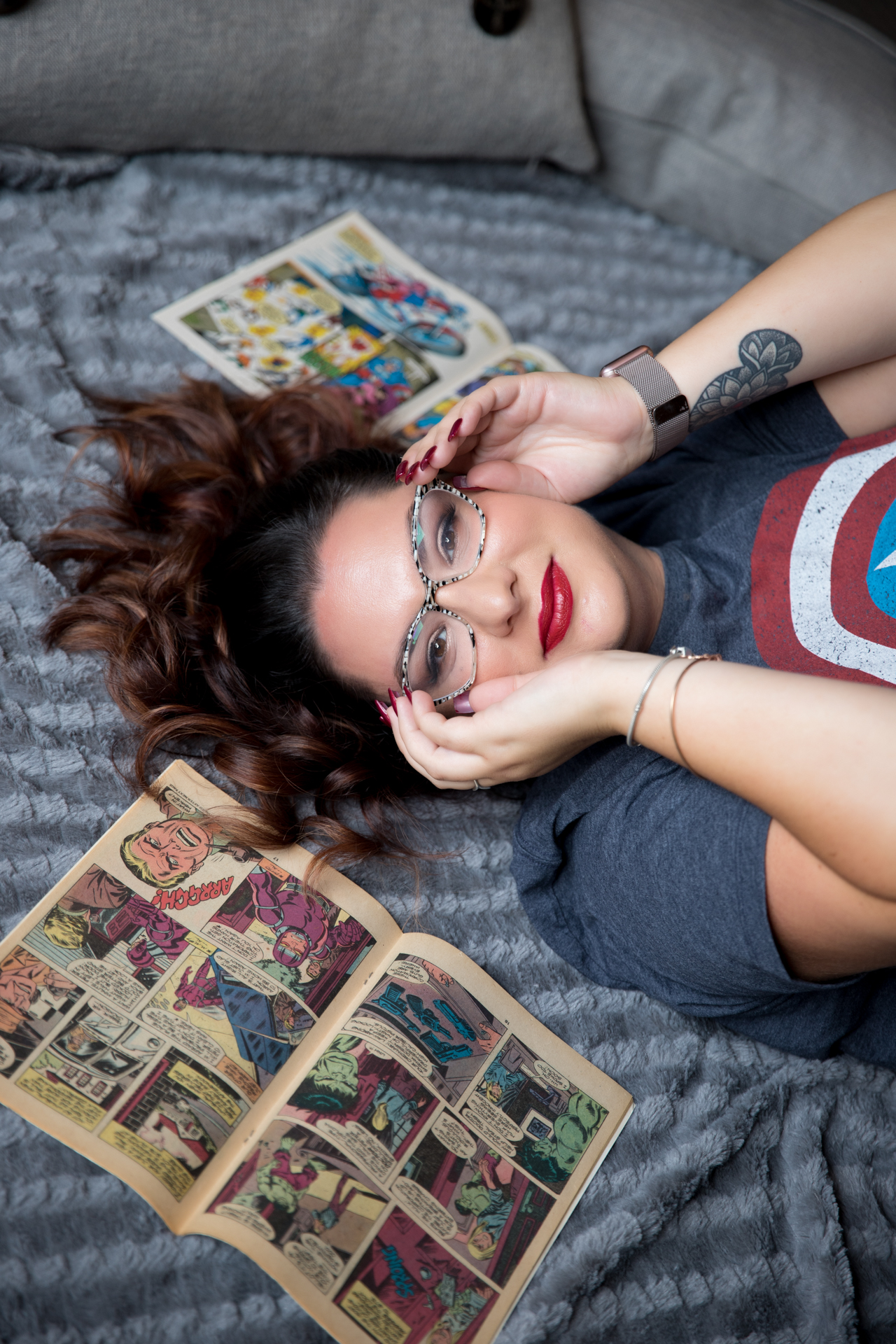 Miss Captain America: A Fun, Casual, & Sexy Boudoir Session