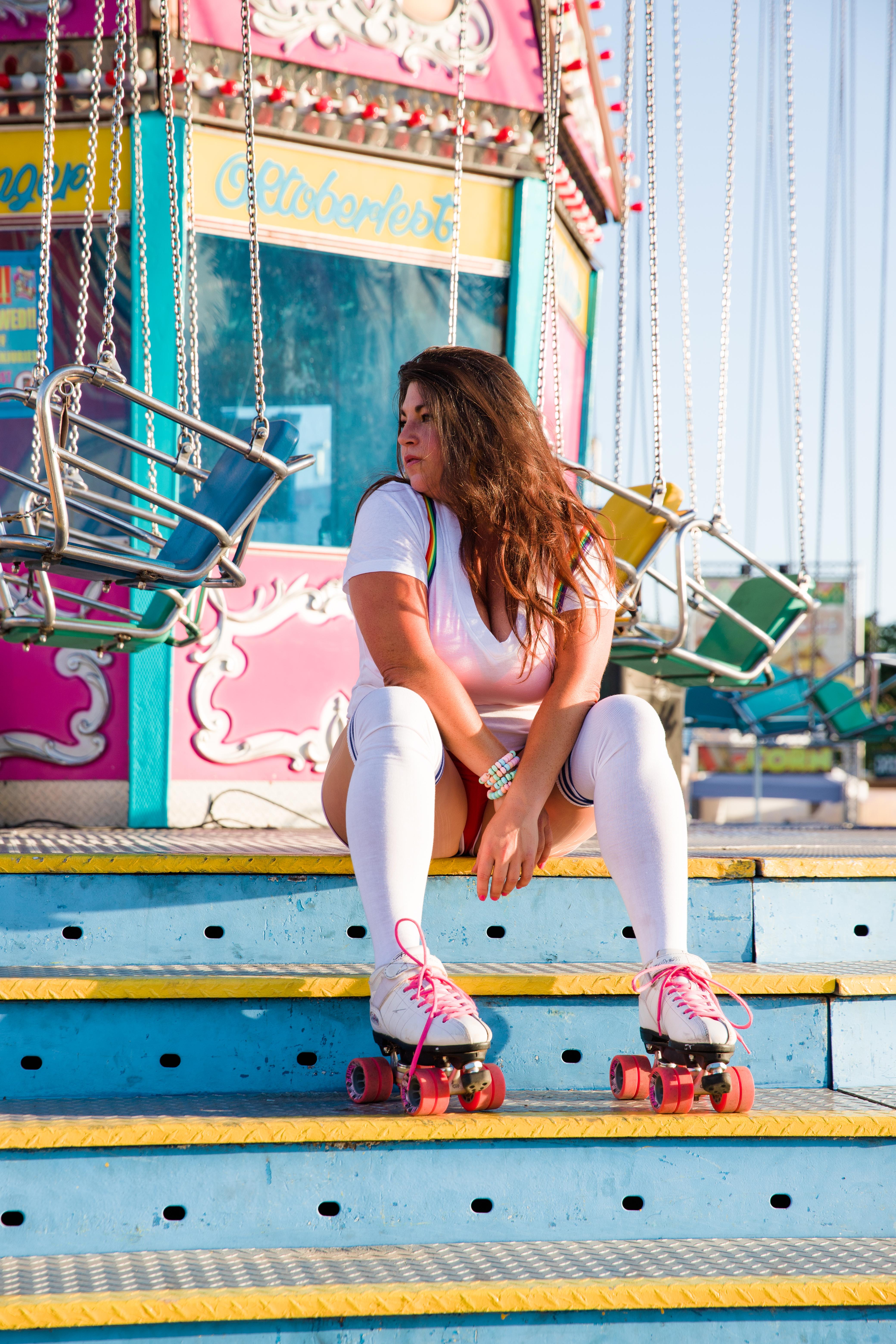 roller skating badass chick