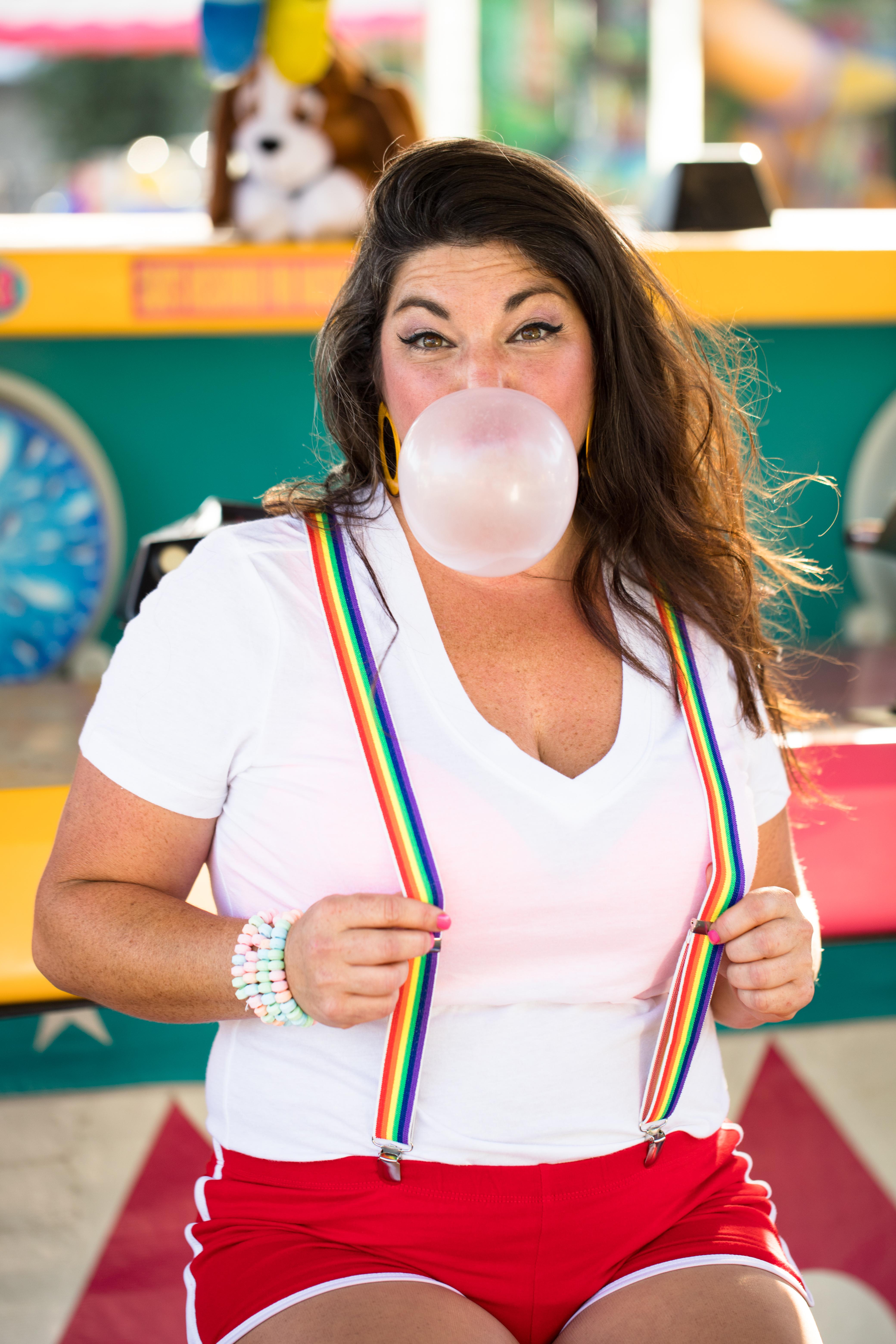bubble gum bright colors