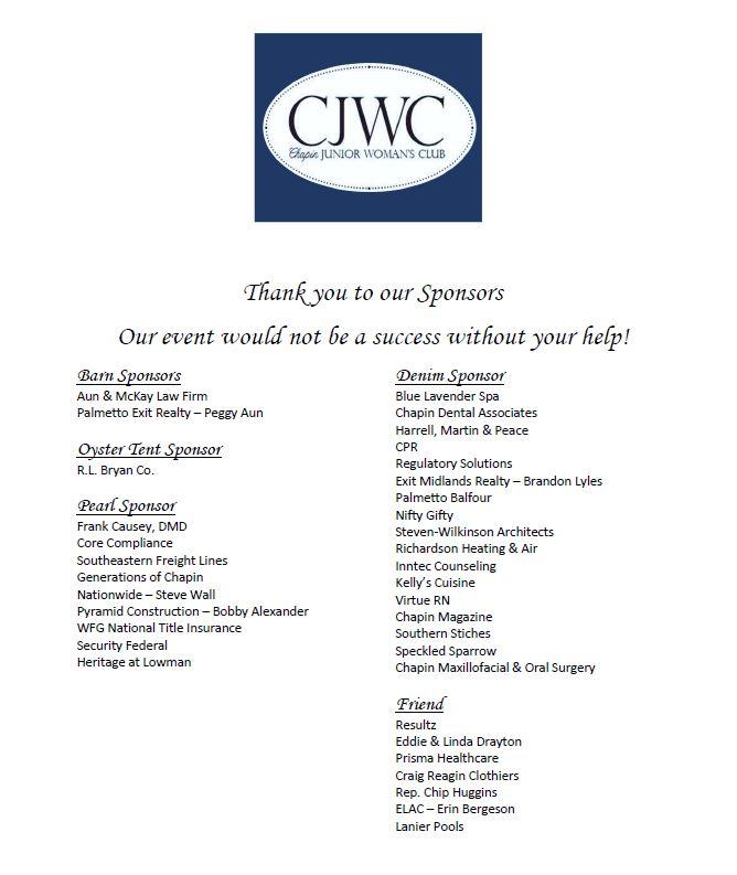 Sponsors for Website
