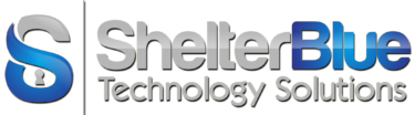 Shelter Blue – Technology & Security Solutions Logo