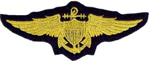 3098 navy wings patch