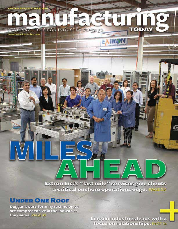 Extron Featured on Cover of Manufacturing Today