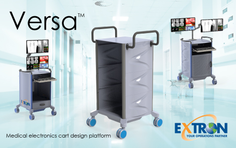 Extron Inc. introduces new Versa line of medical electronics carts at MD&M West