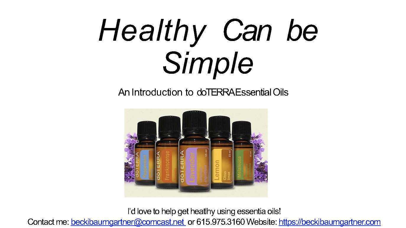 Healthy Can Be Simple With doTERRA!