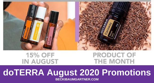 doTERRA August 2020 Promotions