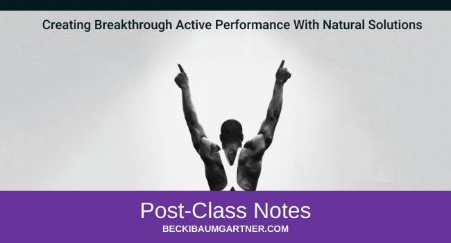 Peak Performance Post-Class Notes
