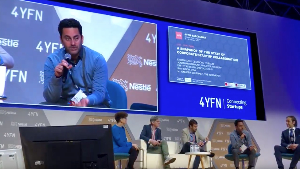 Discussing innovation and building trust in organizations at Mobile World Congress, Barcelona, Spain
