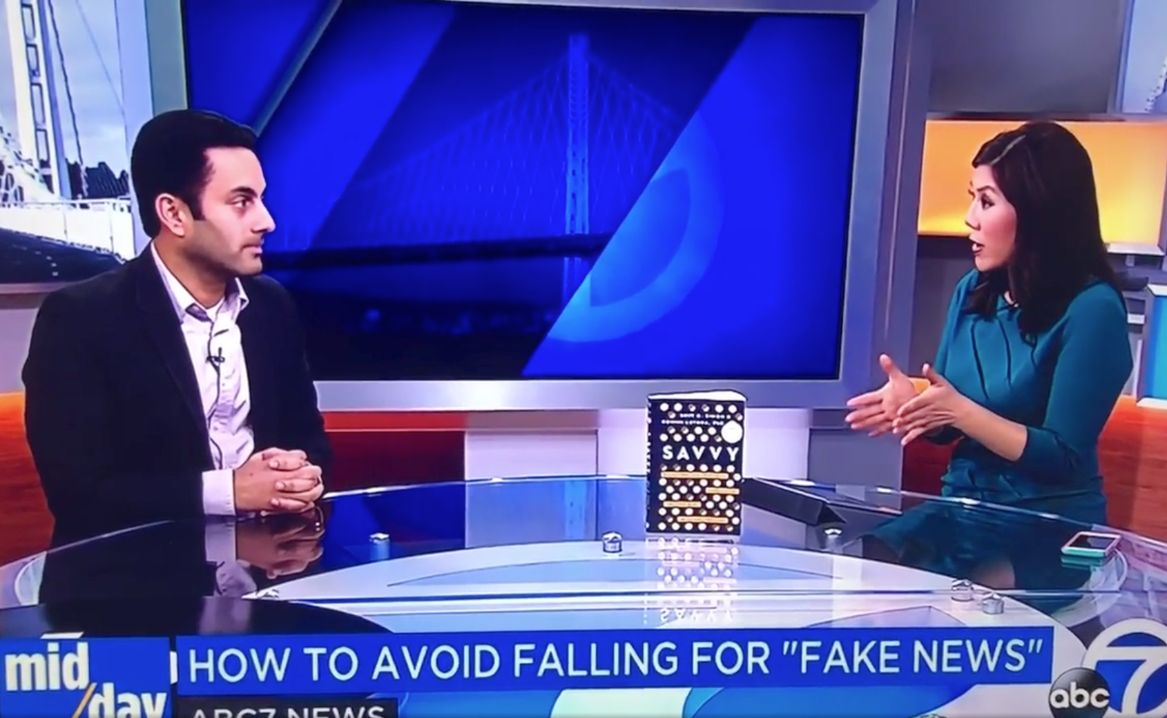 On ABC News discussing fake news