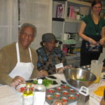 Cooking with PACE participant