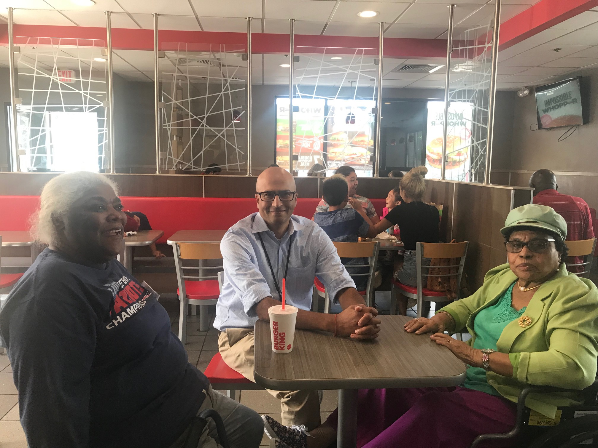 Jay Trivedi, CEO stops by for lunch at Burger King