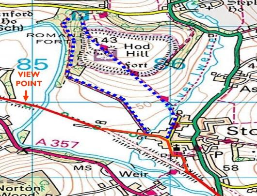 North Dorset Trailway Short Hod Hill Walk