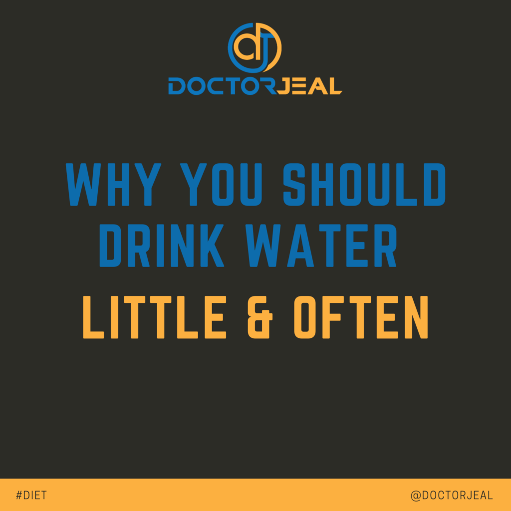 Why you SHOULD Drink WATER Little & Often - social