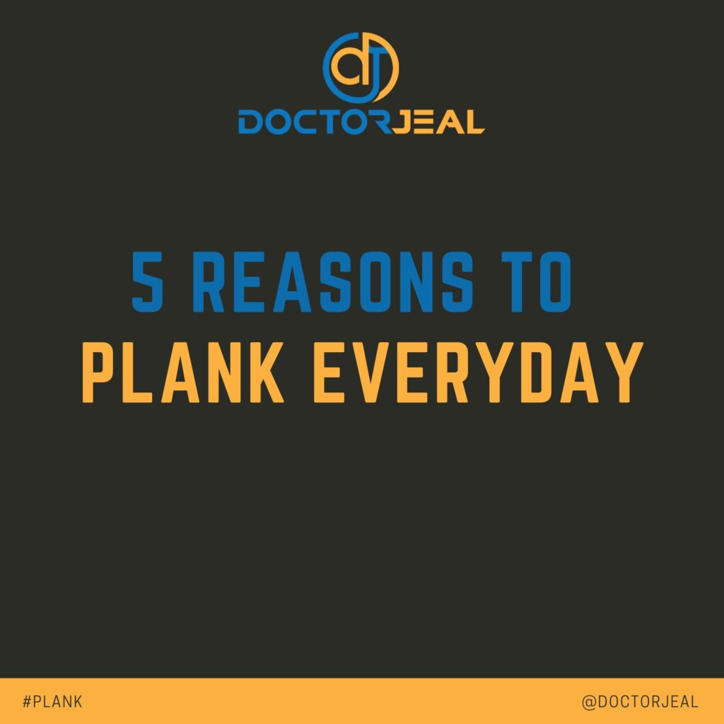 5 Reasons to Plank Everyday - Social -Title