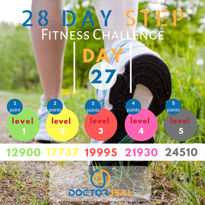 28 Day Step Fitness Challenge Day 27