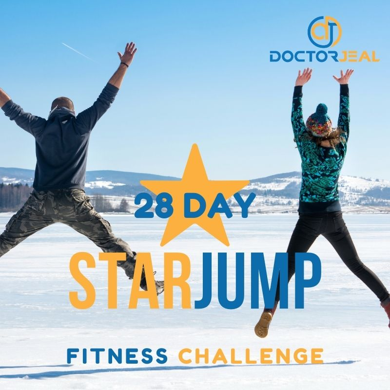 28 Day Star Jump Exercise Challenge Titles - Title