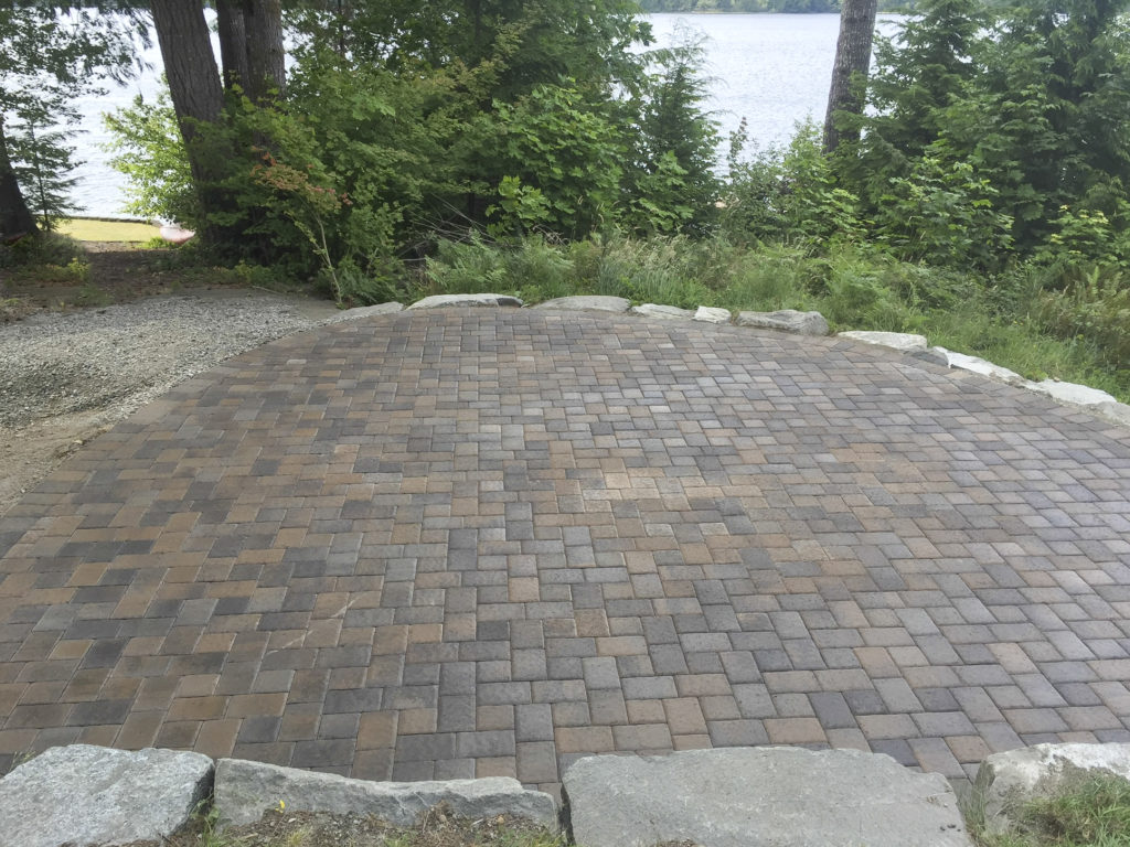 paver patio in natural setting