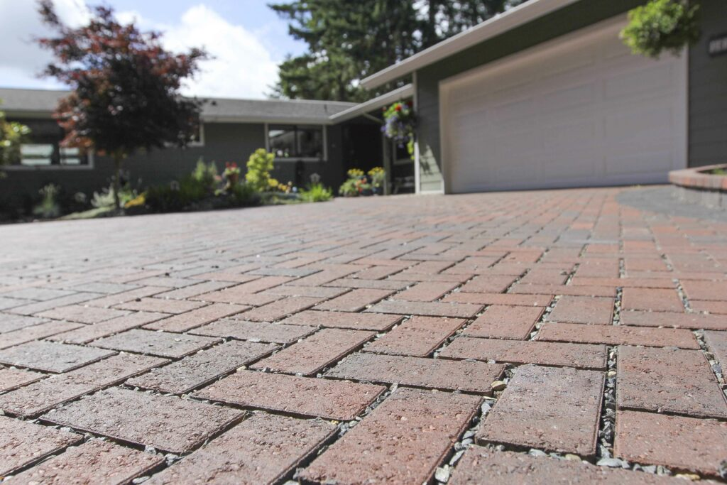 permeable driveway close up