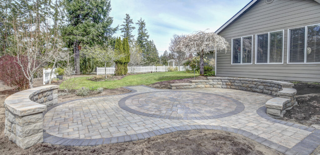 belgard patio with belair wall