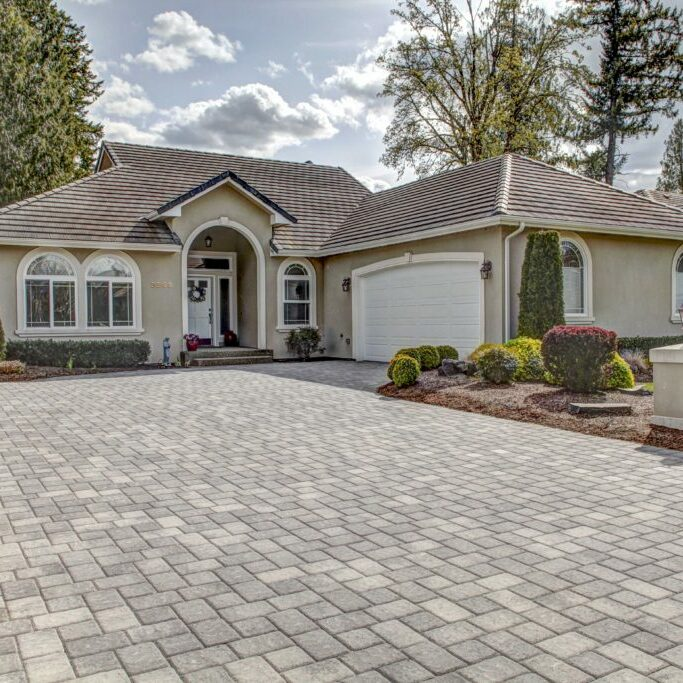 Paver driveways are a great way to create a beautiful entrance
