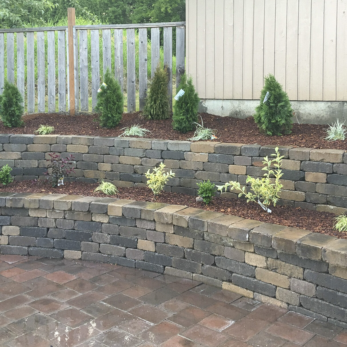 Retaining walls are great additions to your landscape or for structural integrity
