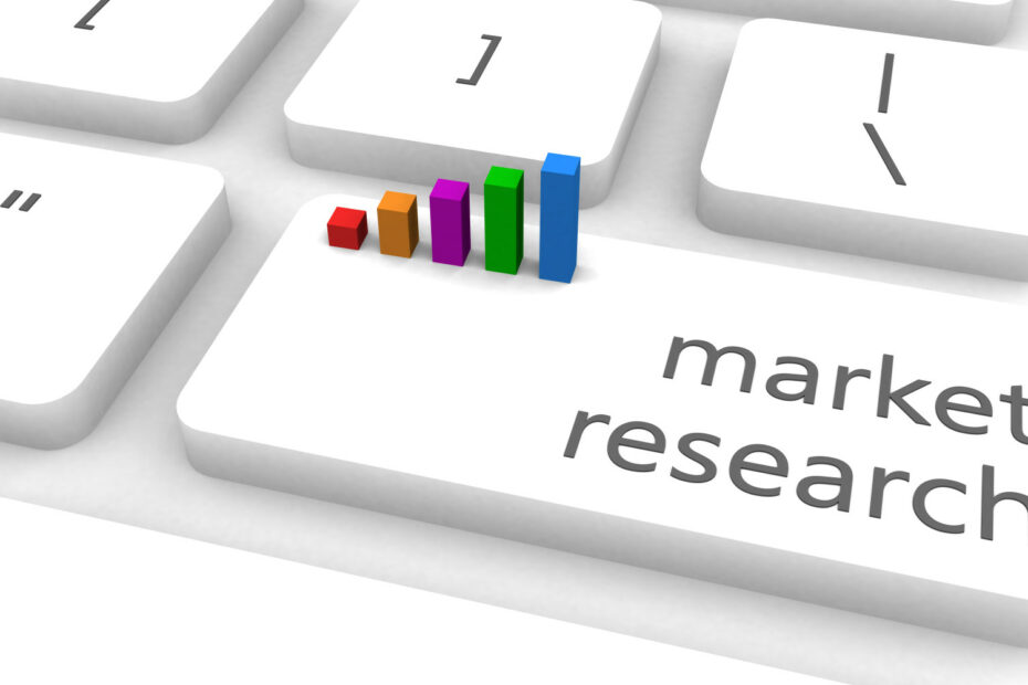 keyboard with market research key