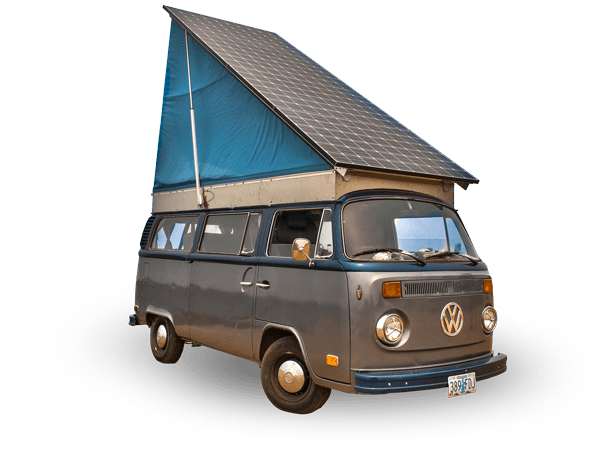 1973 Fully Electric, Solar Powered, VW Camper Van
