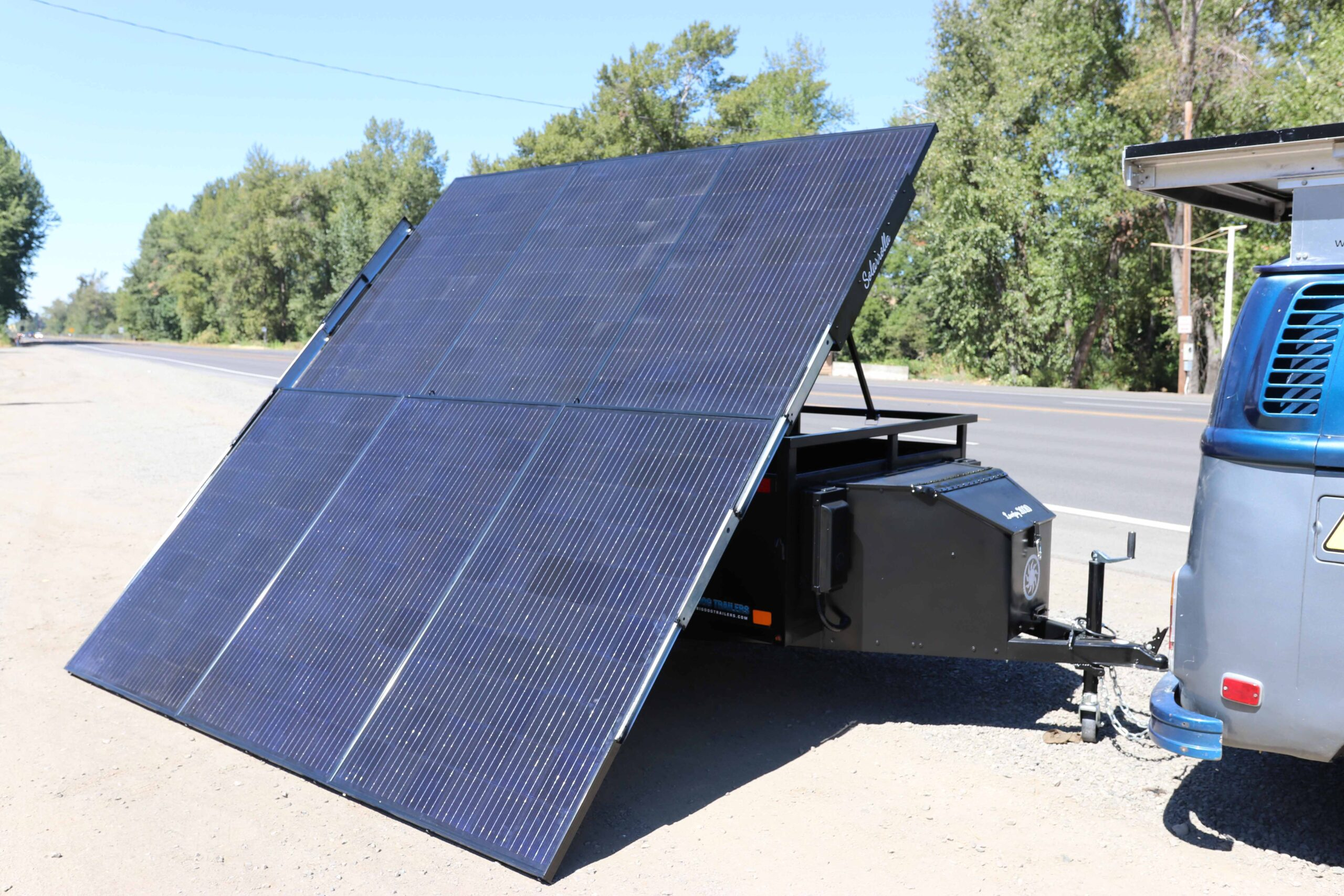 Solarrolla Solar Trailer, Mobile Charging Station