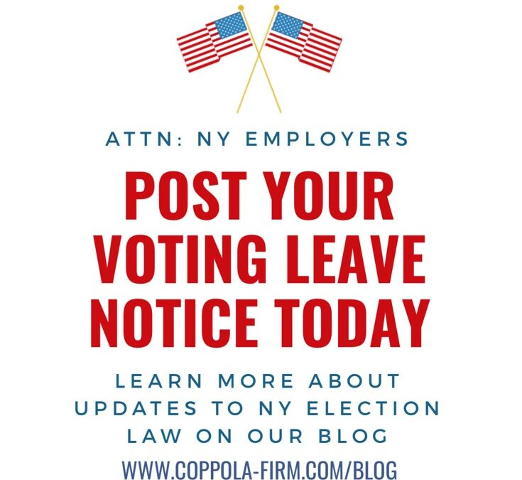 HR Alert: NY Employers Should Post Voting Leave Notices Now