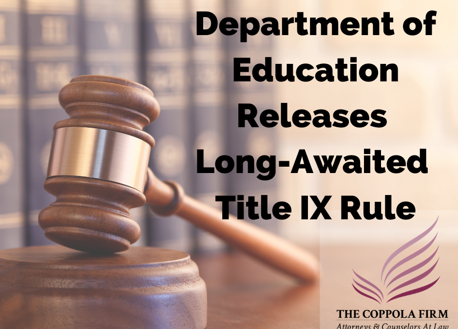 What You Need To Know About The New Title IX Regulations