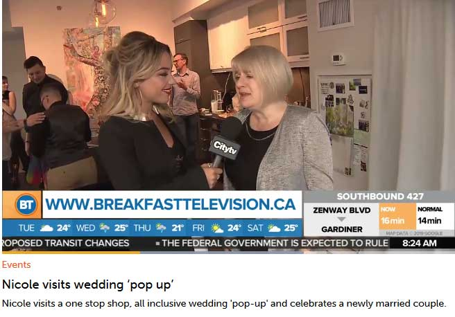 breakfast television pop up wedding