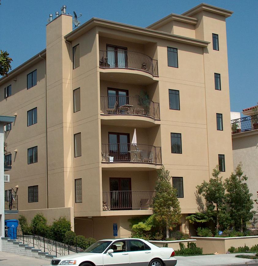 Four-Story Condominium Front View 012