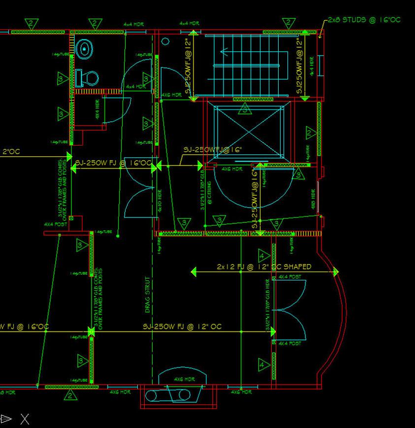 Four-Story Condominium Framing Plan Drawing