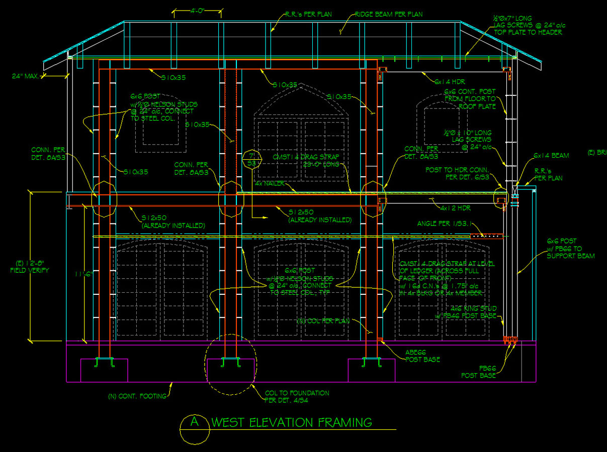 Restaurant Expansion Section Drawing
