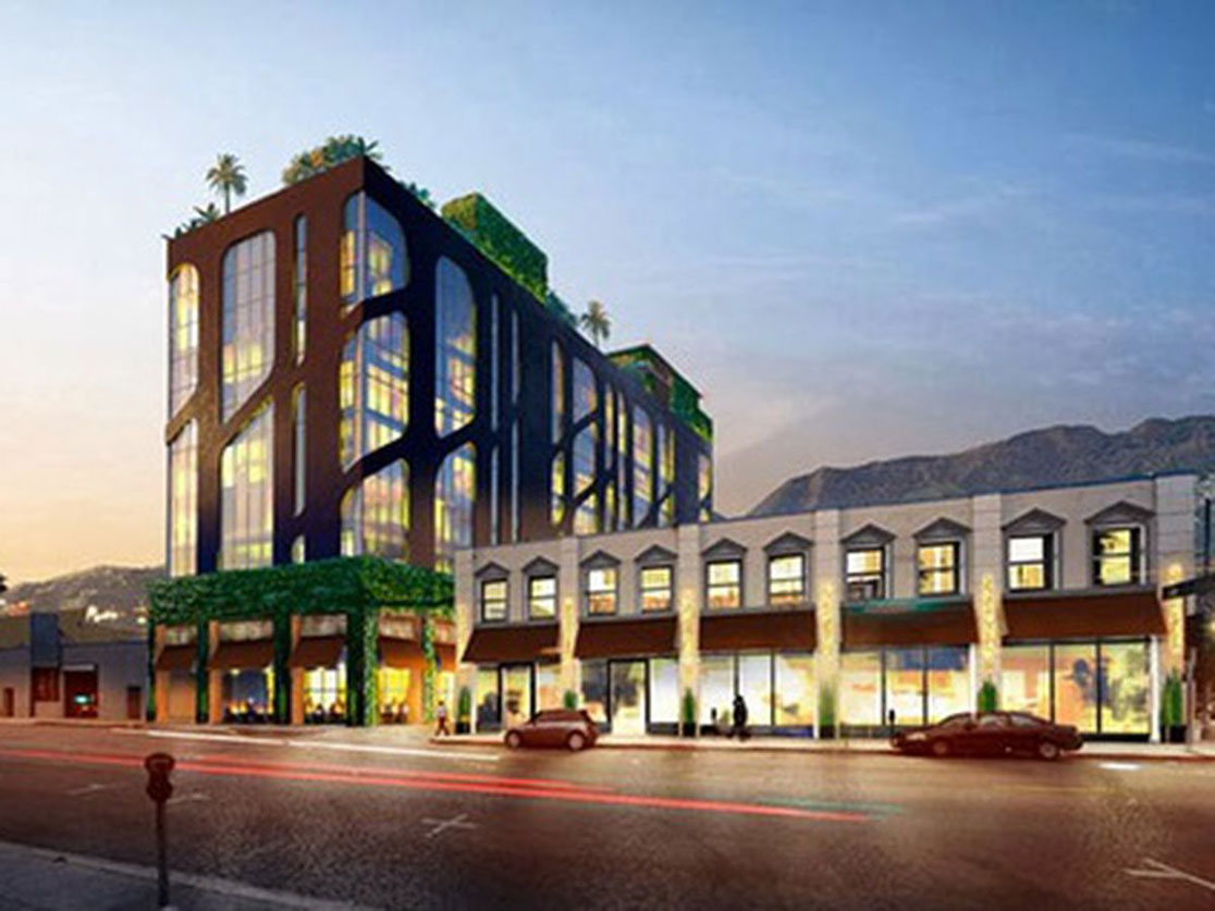 Selma Ave Hotel, Hollywood - Street View Rendering